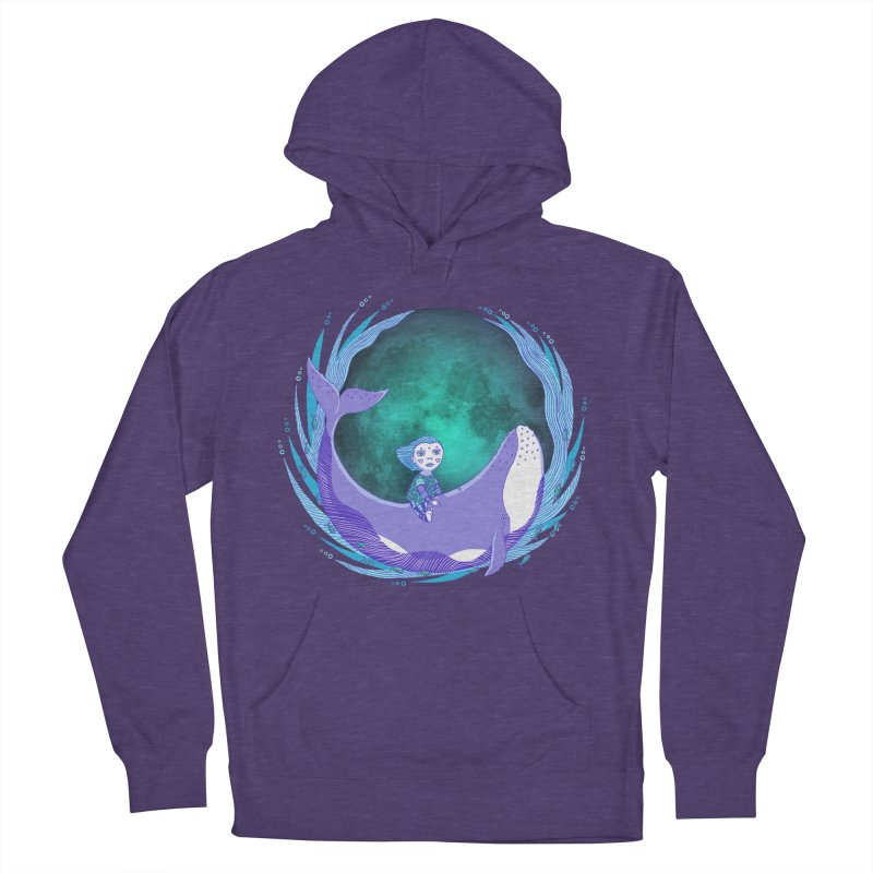Riding the whale Men's French Terry Pullover Hoody by ShadoBado Artist Shop