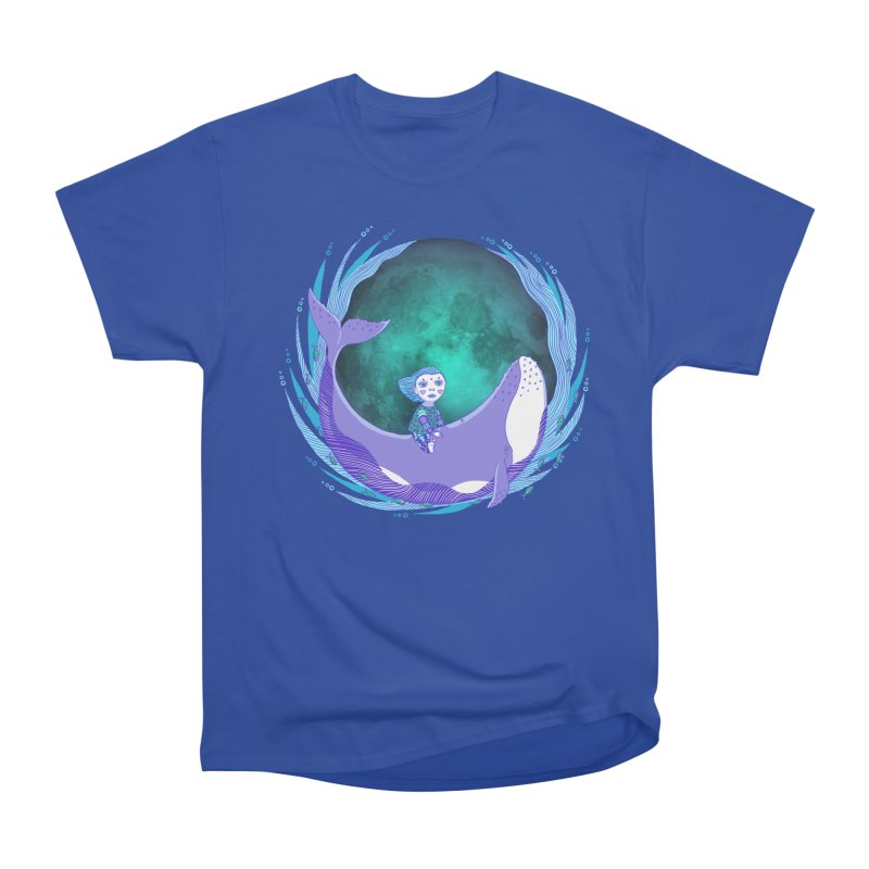 Riding the whale Women's T-Shirt by ShadoBado Artist Shop