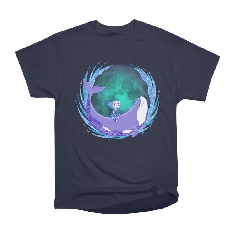 Riding the whale Men's Heavyweight T-Shirt by ShadoBado Artist Shop