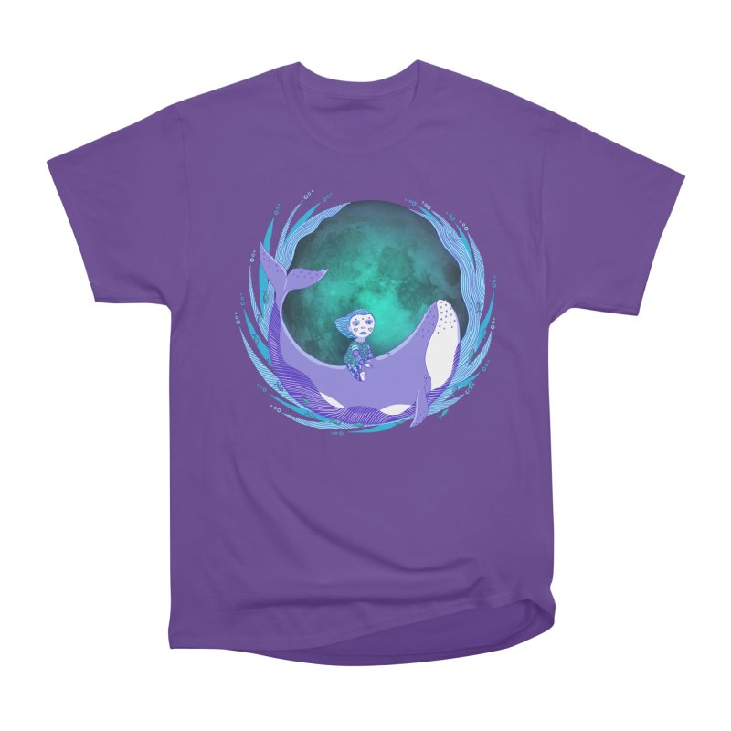 Riding the whale Women's Heavyweight Unisex T-Shirt by ShadoBado Artist Shop