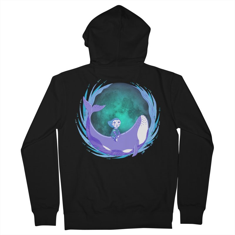 Riding the whale Women's French Terry Zip-Up Hoody by ShadoBado Artist Shop