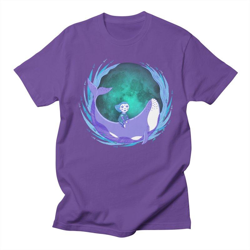 Riding the whale Men's Regular T-Shirt by ShadoBado Artist Shop