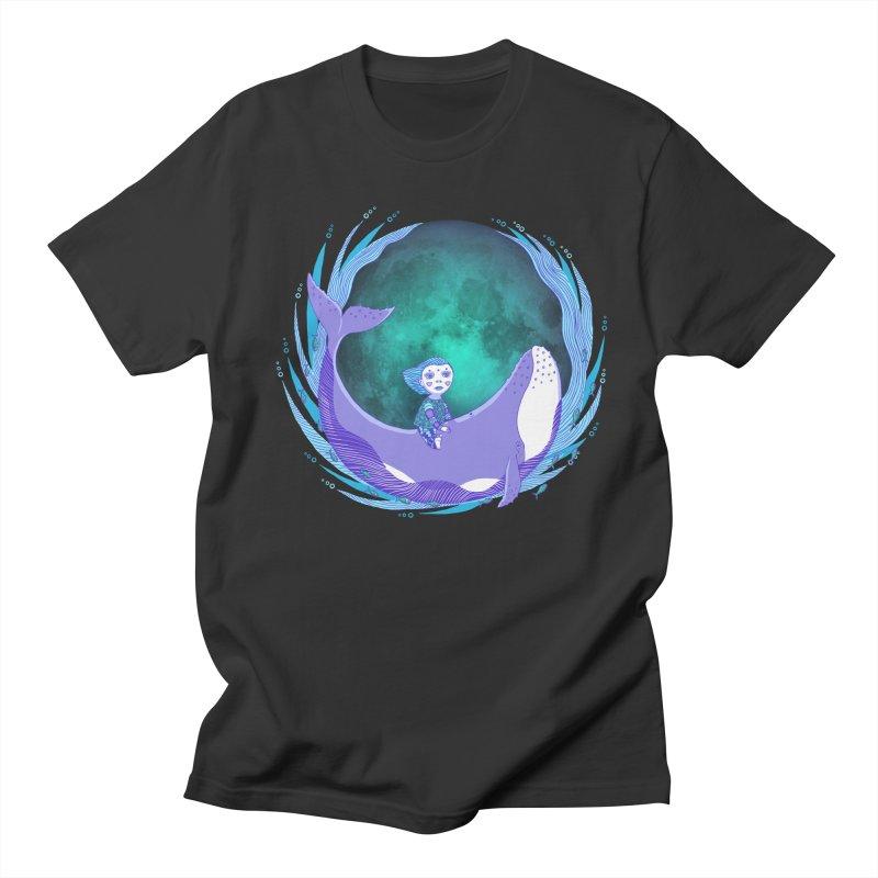 Riding the whale Women's Regular Unisex T-Shirt by ShadoBado Artist Shop
