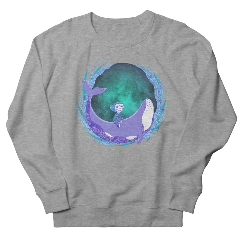 Riding the whale Women's French Terry Sweatshirt by ShadoBado Artist Shop