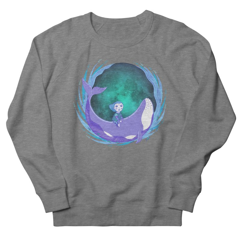 Riding the whale Men's French Terry Sweatshirt by ShadoBado Artist Shop