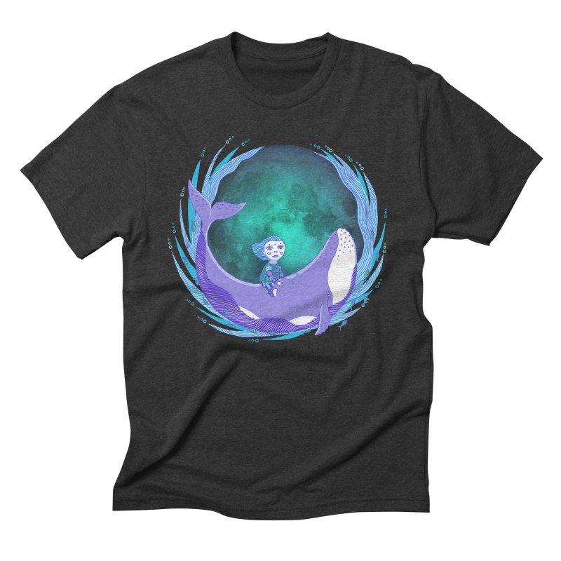 Riding the whale Men's Triblend T-Shirt by ShadoBado Artist Shop