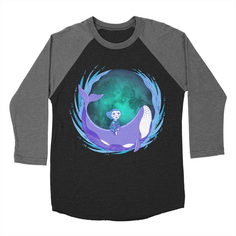 Riding the whale Women's Baseball Triblend Longsleeve T-Shirt by ShadoBado Artist Shop