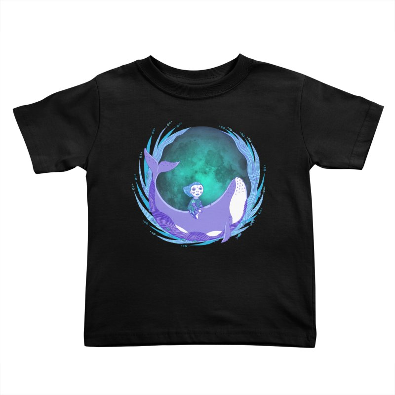 Riding the whale Kids Toddler T-Shirt by ShadoBado Artist Shop
