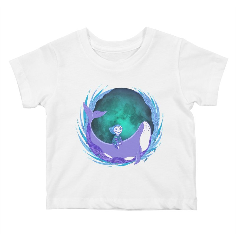Riding the whale Kids Baby T-Shirt by ShadoBado Artist Shop