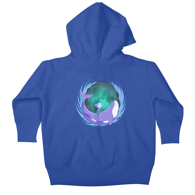 Riding the whale Kids Baby Zip-Up Hoody by ShadoBado Artist Shop