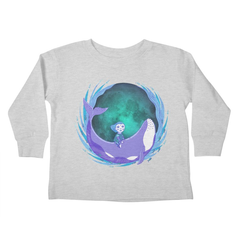 Riding the whale Kids Toddler Longsleeve T-Shirt by ShadoBado Artist Shop