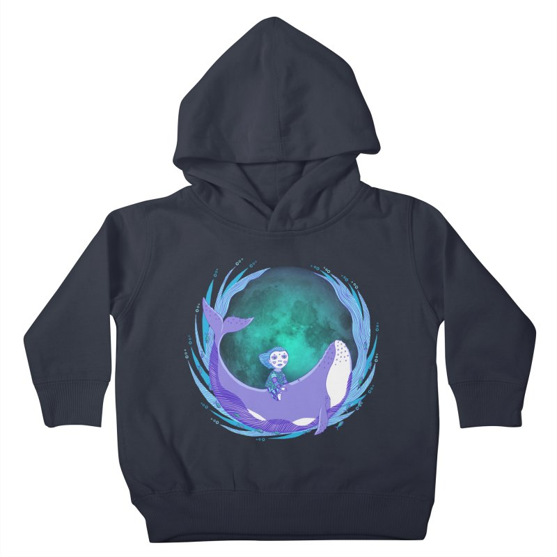Riding the whale Kids Toddler Pullover Hoody by ShadoBado Artist Shop