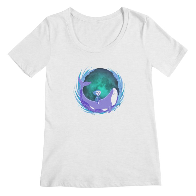 Riding the whale Women's Regular Scoop Neck by ShadoBado Artist Shop