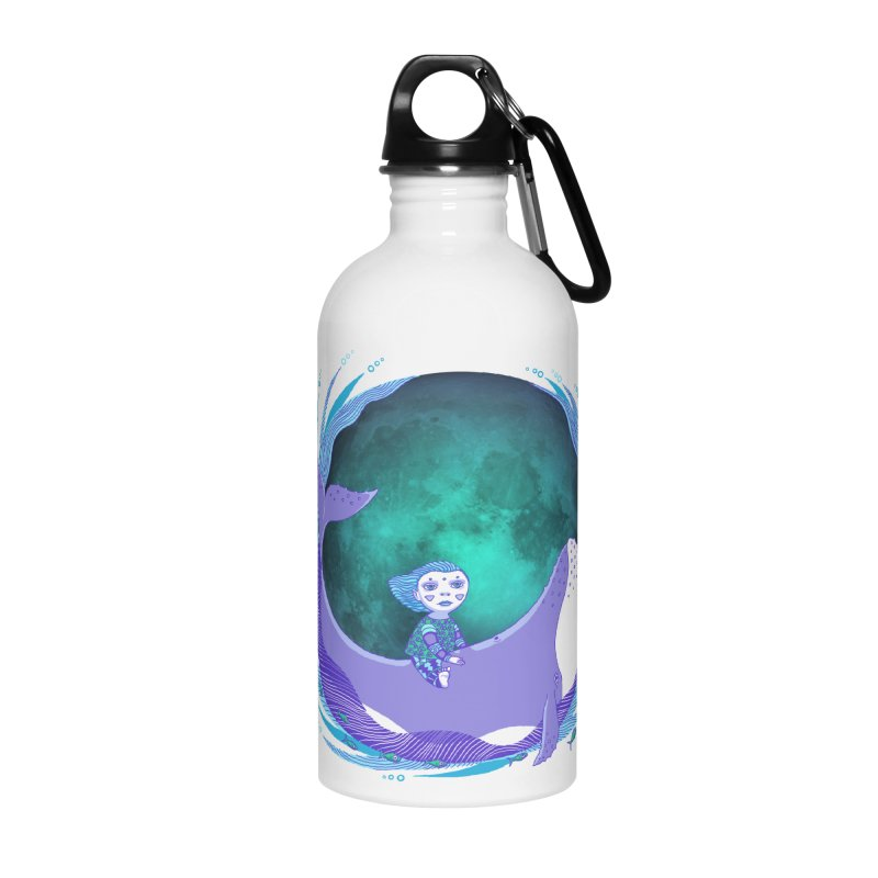 Riding the whale Accessories Water Bottle by ShadoBado Artist Shop