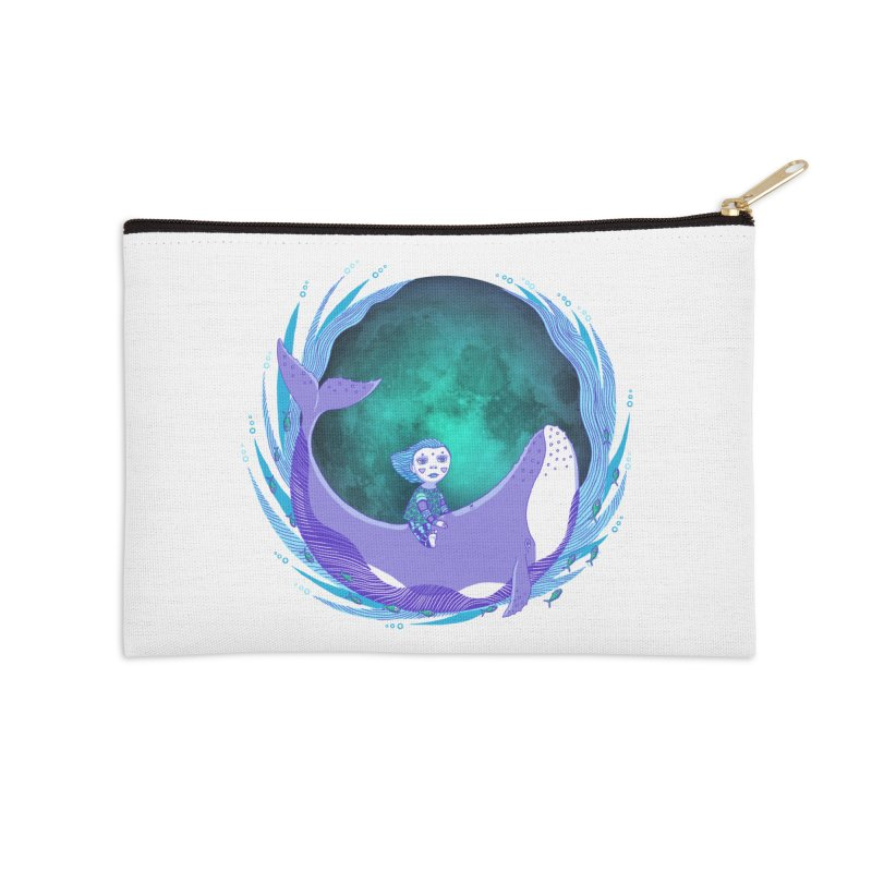 Riding the whale Accessories Zip Pouch by ShadoBado Artist Shop