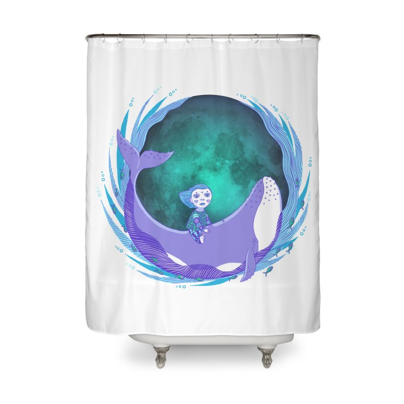 Riding the whale Home Shower Curtain by ShadoBado Artist Shop
