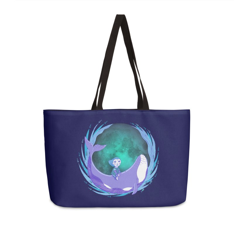 Riding the whale Accessories Weekender Bag Bag by ShadoBado Artist Shop