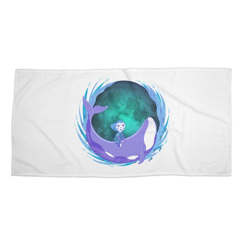 Riding the whale Accessories Beach Towel by ShadoBado Artist Shop