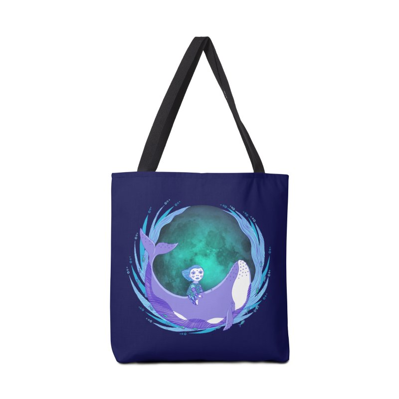 Riding the whale Accessories Tote Bag Bag by ShadoBado Artist Shop