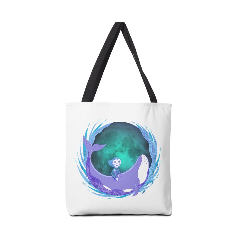 Riding the whale Accessories Bag by ShadoBado Artist Shop