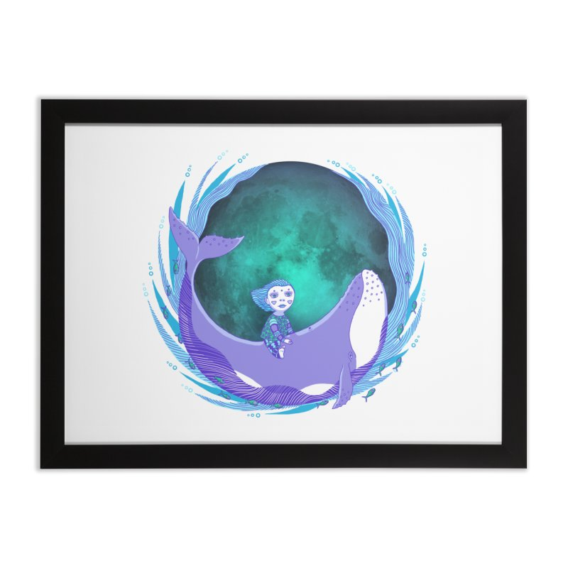 Riding the whale Home Framed Fine Art Print by ShadoBado Artist Shop