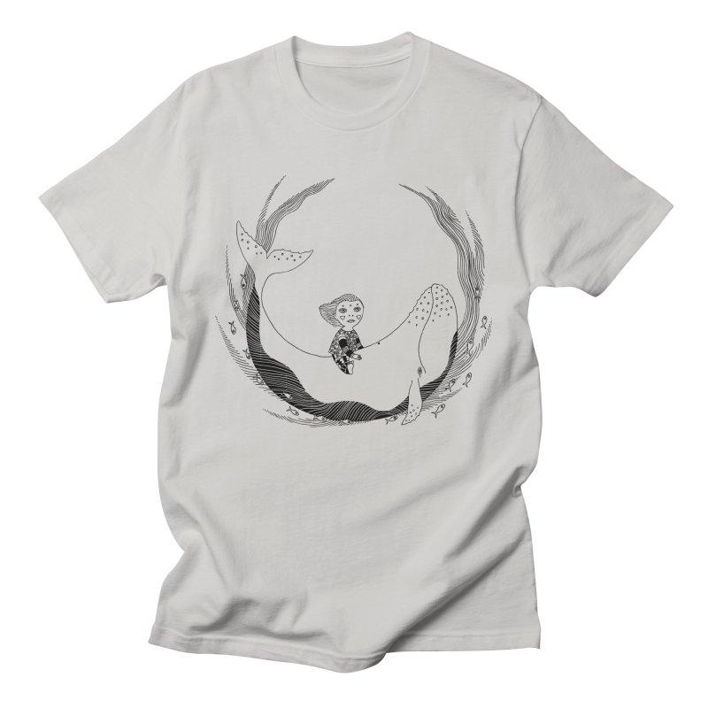Riding the whale2 Men's T-Shirt by ShadoBado Artist Shop