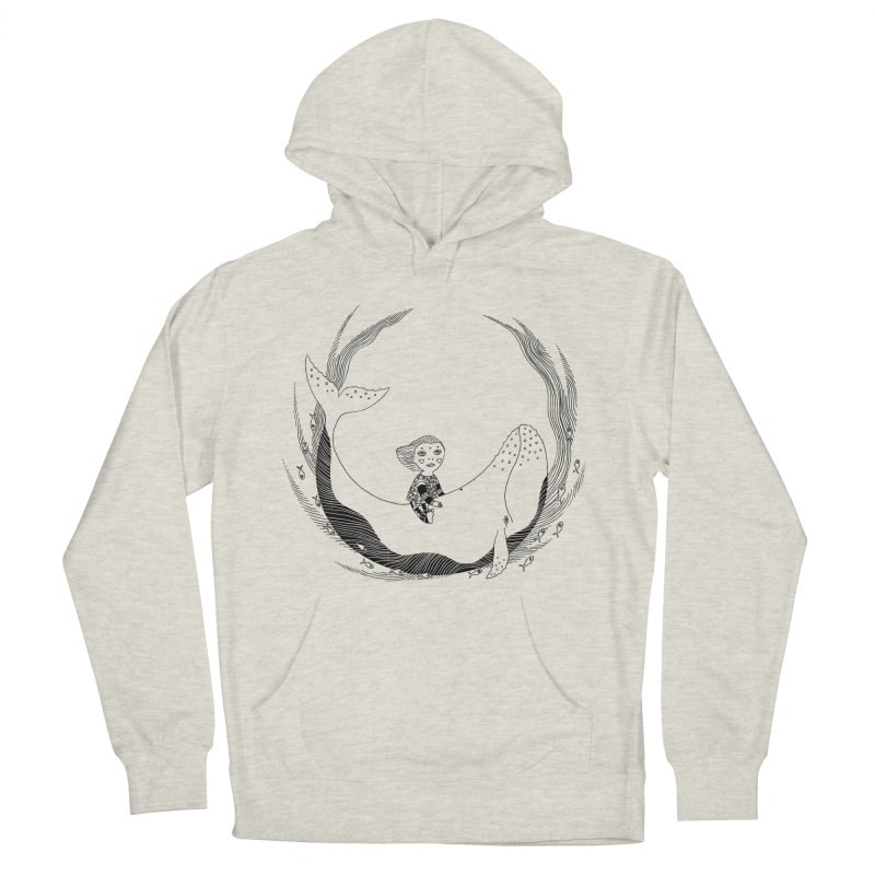 Riding the whale2 Men's French Terry Pullover Hoody by ShadoBado Artist Shop