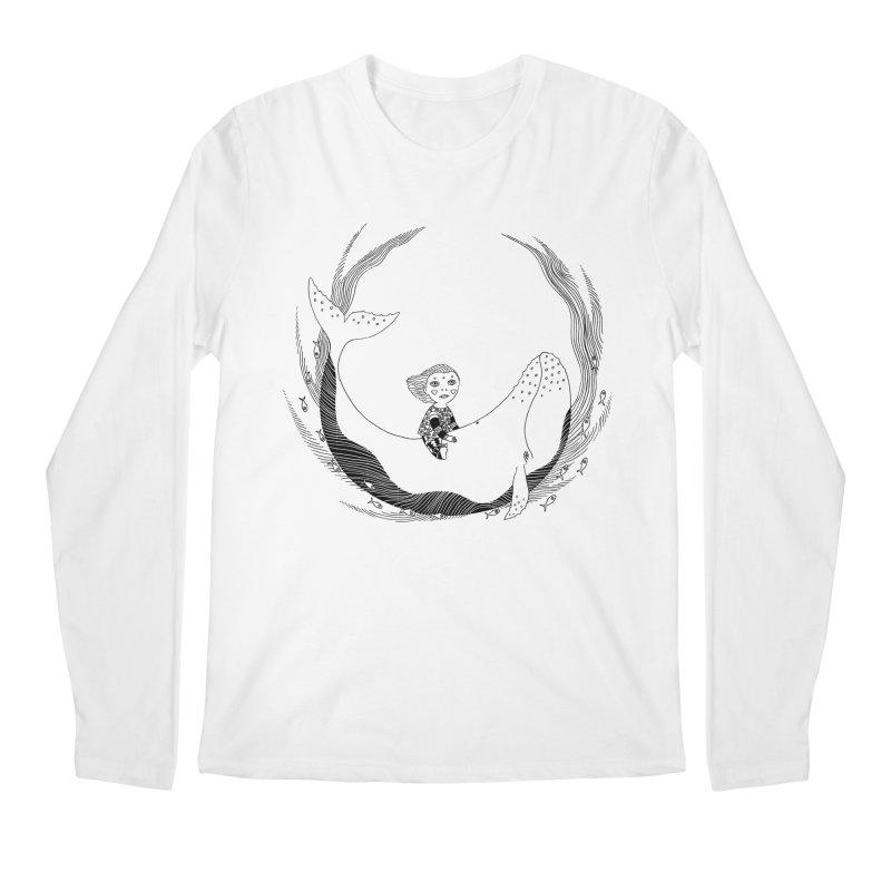 Riding the whale2 Men's Regular Longsleeve T-Shirt by ShadoBado Artist Shop
