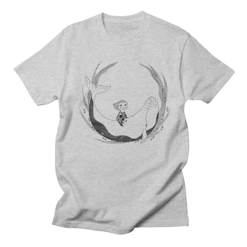 Riding the whale2 Women's Regular Unisex T-Shirt by ShadoBado Artist Shop