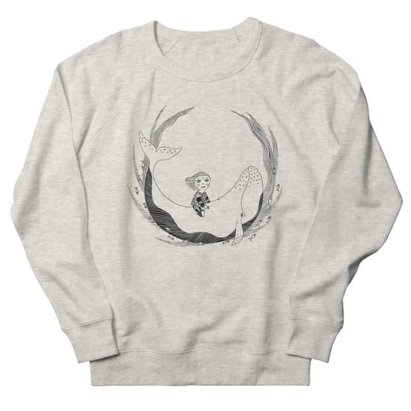 Riding the whale2 Men's French Terry Sweatshirt by ShadoBado Artist Shop