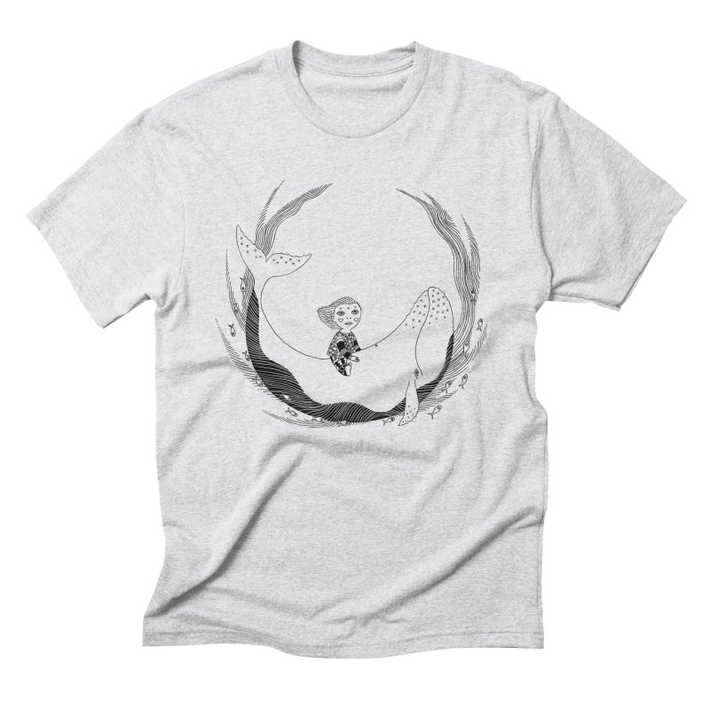 Riding the whale2 Men's Triblend T-Shirt by ShadoBado Artist Shop
