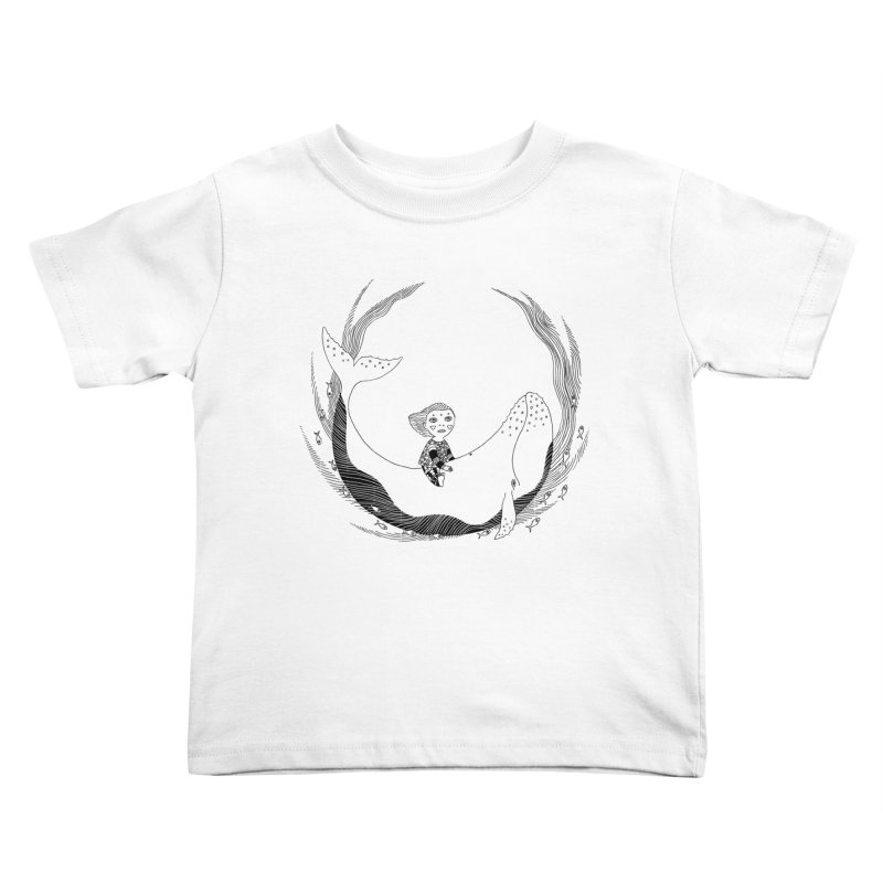 Riding the whale2 Kids Toddler T-Shirt by ShadoBado Artist Shop