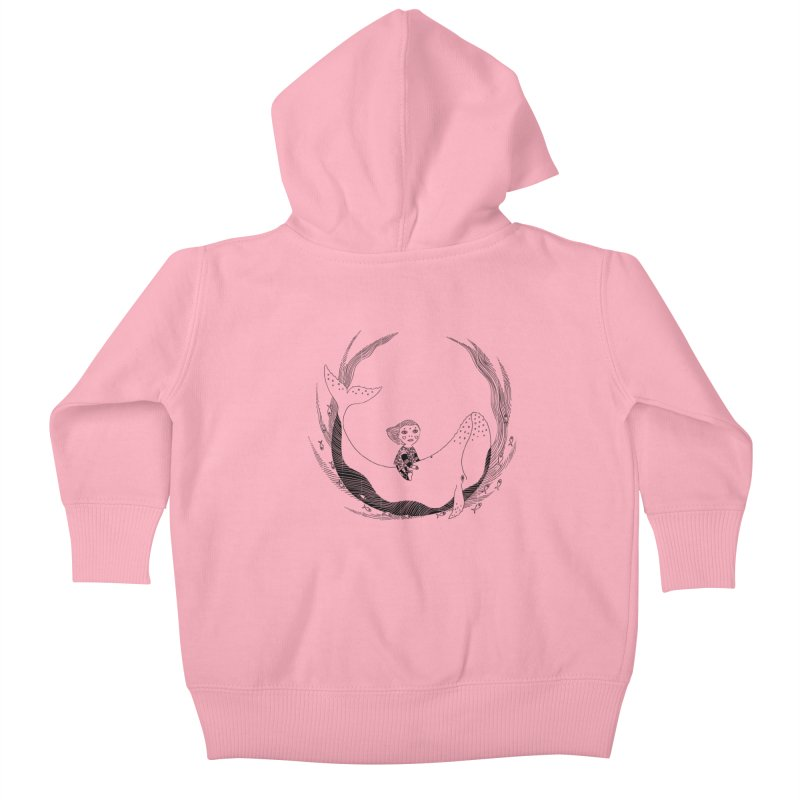 Riding the whale2 Kids Baby Zip-Up Hoody by ShadoBado Artist Shop