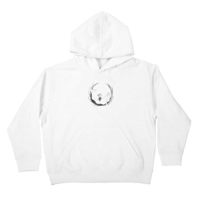 Riding the whale2 Kids Pullover Hoody by ShadoBado Artist Shop