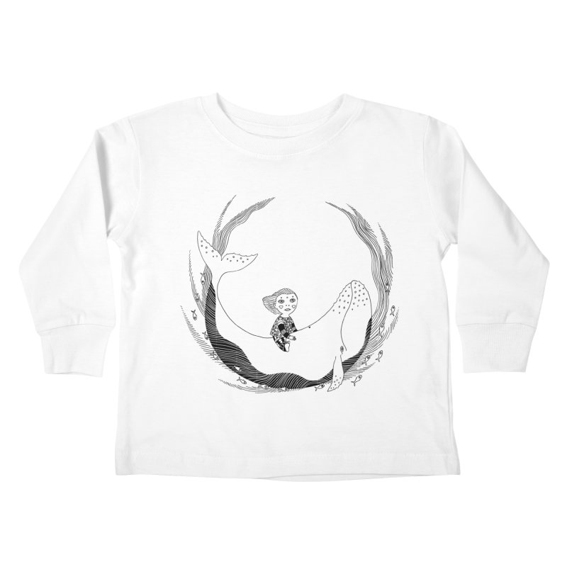 Riding the whale2 Kids Toddler Longsleeve T-Shirt by ShadoBado Artist Shop