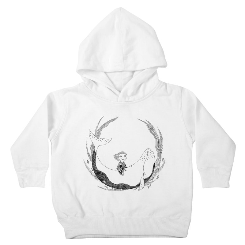 Riding the whale2 Kids Toddler Pullover Hoody by ShadoBado Artist Shop