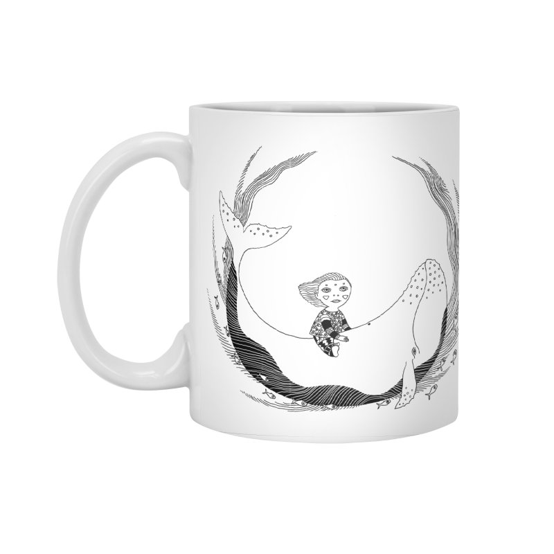 Riding the whale2 Accessories Standard Mug by ShadoBado Artist Shop