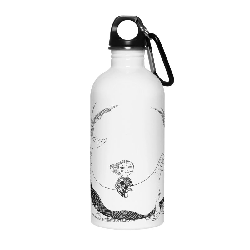 Riding the whale2 Accessories Water Bottle by ShadoBado Artist Shop