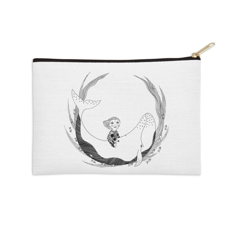 Riding the whale2 Accessories Zip Pouch by ShadoBado Artist Shop