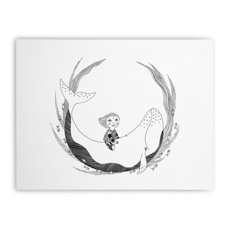 Riding the whale2 Home Stretched Canvas by ShadoBado Artist Shop