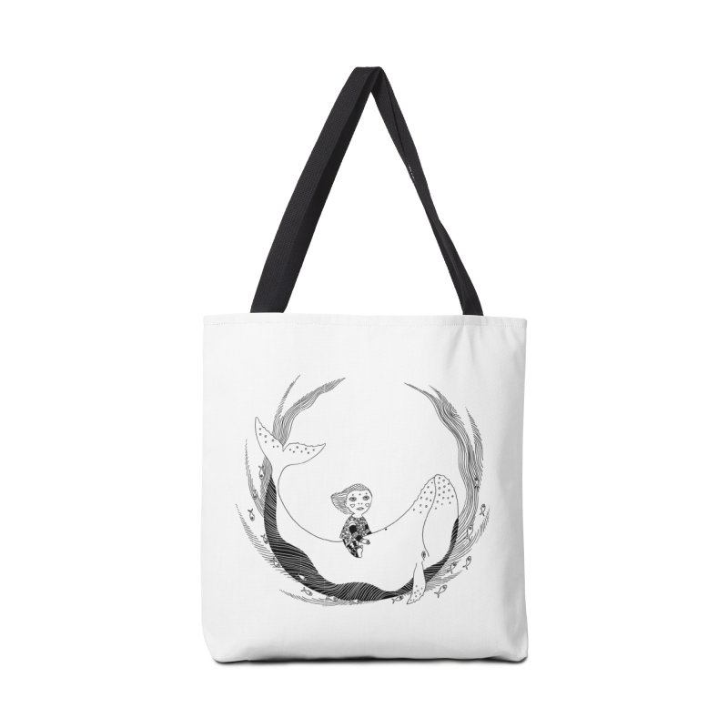 Riding the whale2 Accessories Tote Bag Bag by ShadoBado Artist Shop