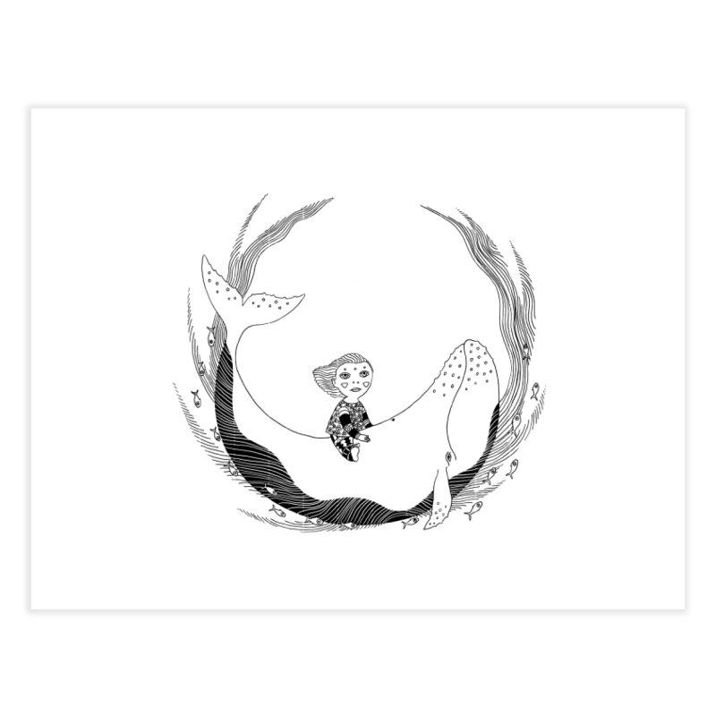 Riding the whale2 Home Fine Art Print by ShadoBado Artist Shop