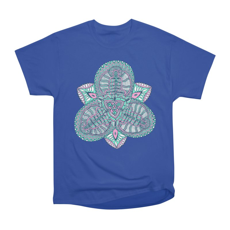 Trikvetr-mandala pink-mint version Women's T-Shirt by ShadoBado Artist Shop