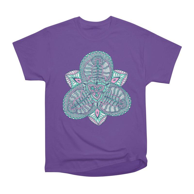 Trikvetr-mandala pink-mint version Women's Heavyweight Unisex T-Shirt by ShadoBado Artist Shop
