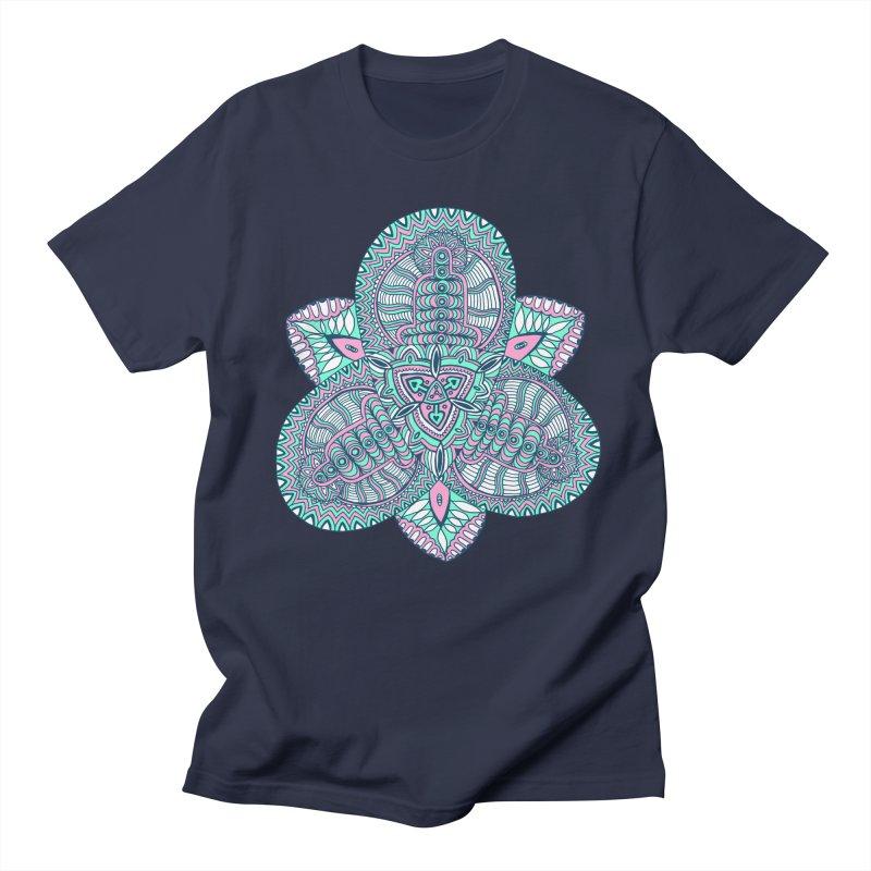 Trikvetr-mandala pink-mint version Women's Regular Unisex T-Shirt by ShadoBado Artist Shop