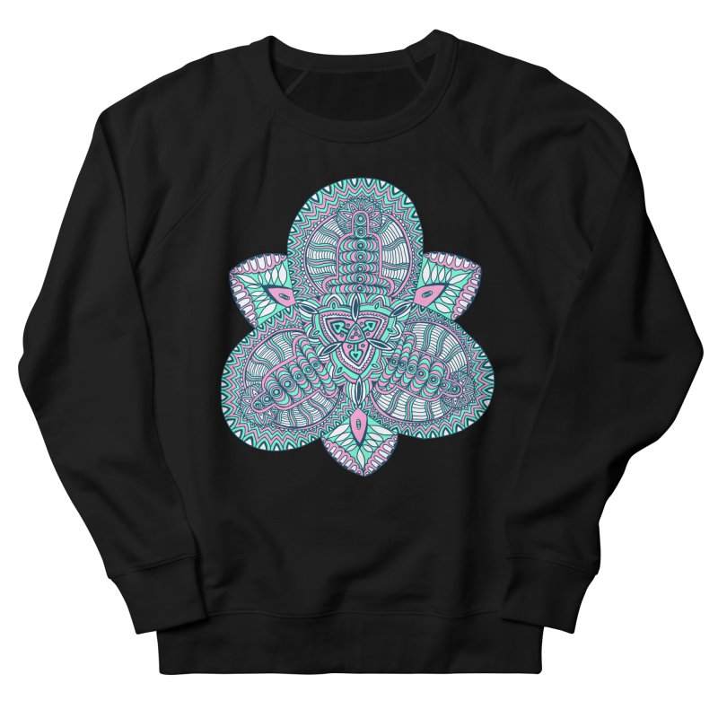 Trikvetr-mandala pink-mint version Women's French Terry Sweatshirt by ShadoBado Artist Shop