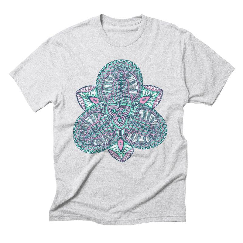 Trikvetr-mandala pink-mint version Men's Triblend T-Shirt by ShadoBado Artist Shop