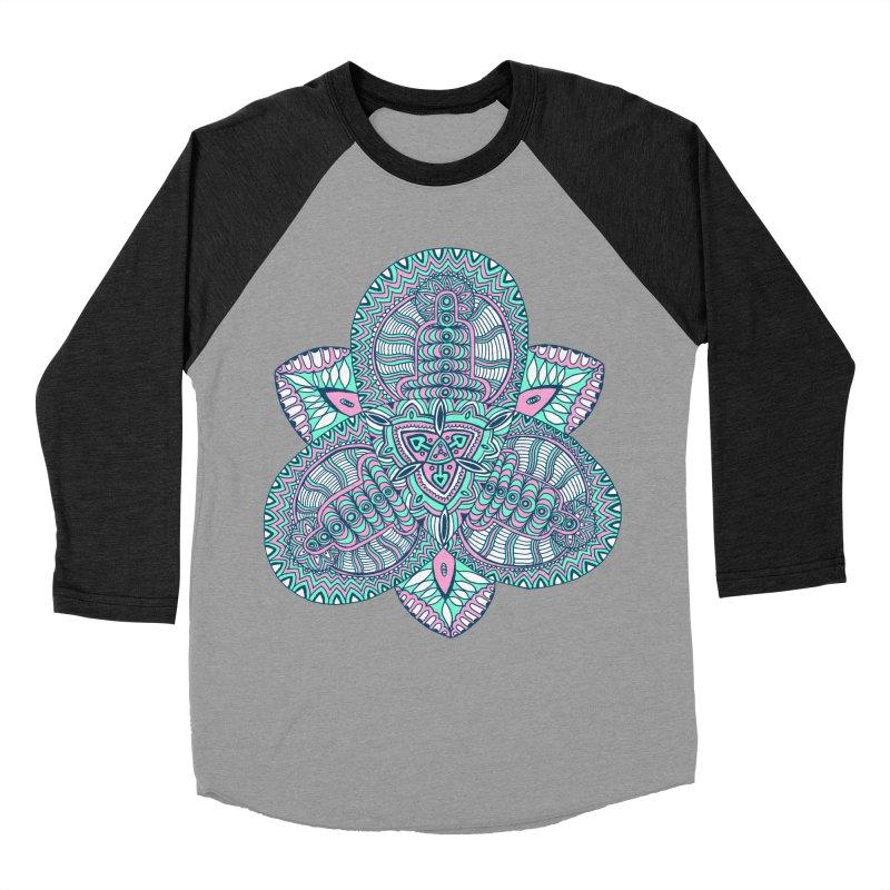 Trikvetr-mandala pink-mint version Men's Baseball Triblend Longsleeve T-Shirt by ShadoBado Artist Shop