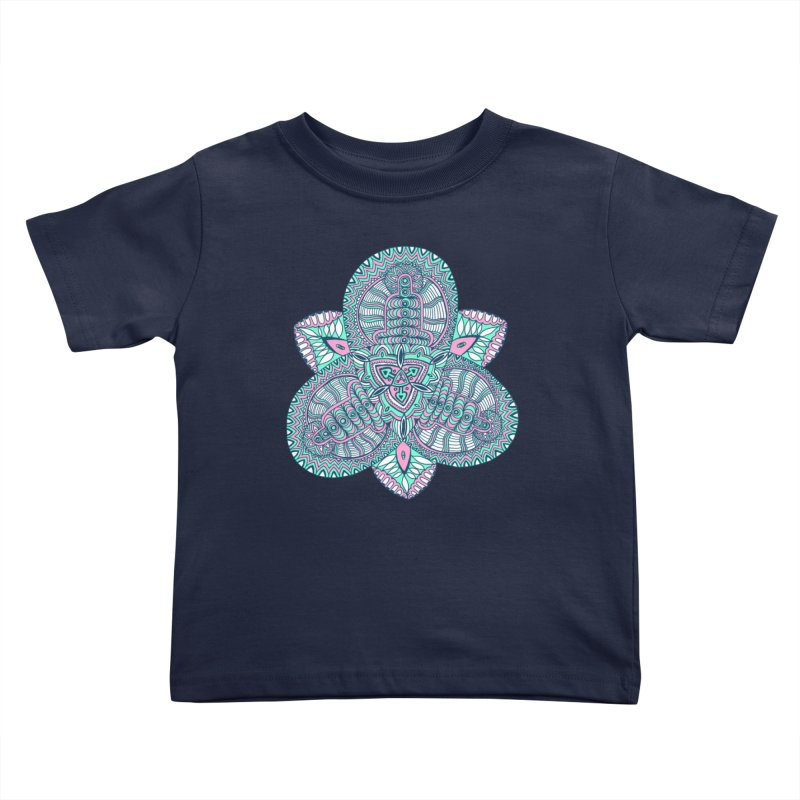 Trikvetr-mandala pink-mint version Kids Toddler T-Shirt by ShadoBado Artist Shop
