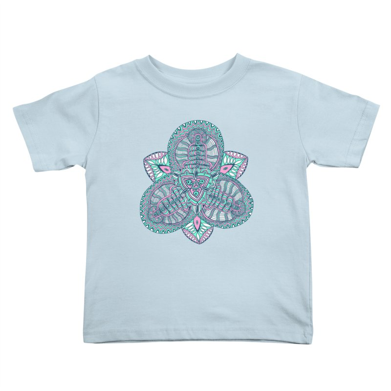 Trikvetr-mandala pink-mint version Kids Toddler T-Shirt by ShadoBado Artist Shop